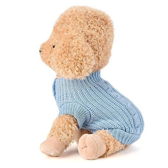 Ropa Para Perros, INTERNET Puente De Punto Para Mascotas Suéter De Invierno Disfraz De Peluche (S, Azul): Amazon.es: Juguetes y juegos