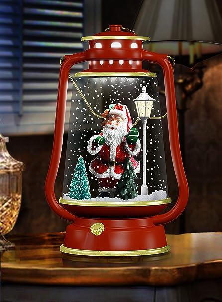 Snowing Christmas Lights.Christmas Concepts Snowing Barn Lantern With Lights And
