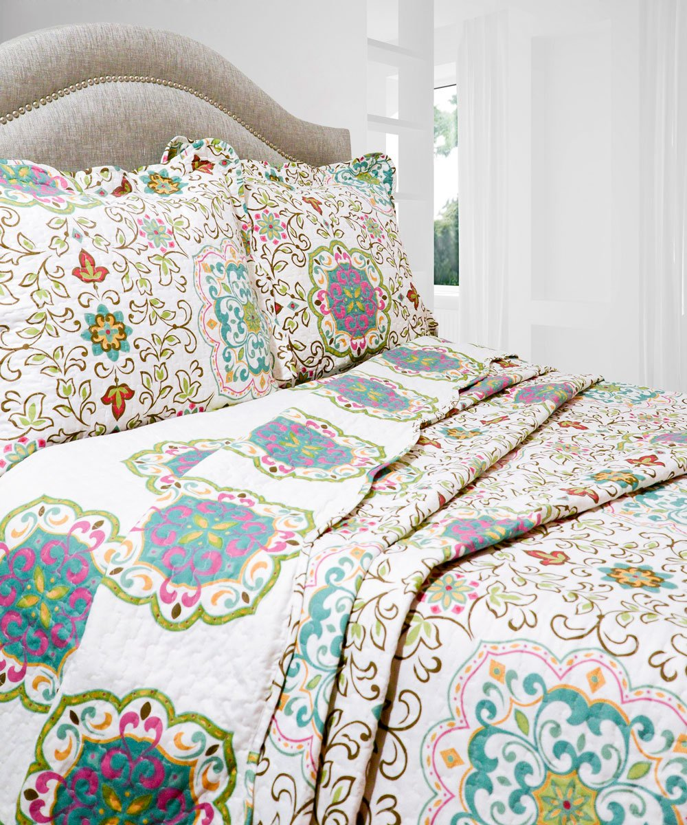 Pegasus Home Fashions Vintage Collection Candella Quilt/Sham Set, Full/Queen