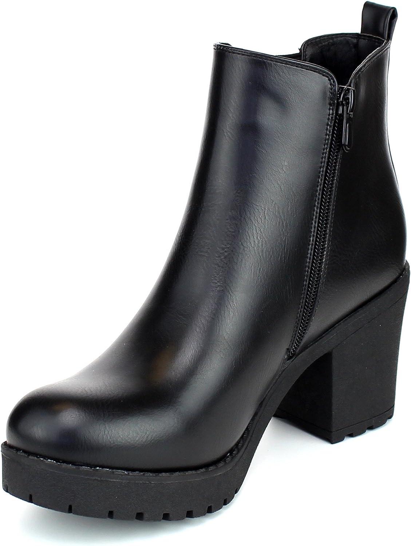 REFRESH CLUB-01 Womens Slip On Chunky Heel Ankle