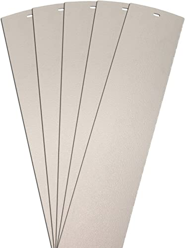 DALIX Sand Blast Premium Vertical Blinds Slats Ivory 98.5 High Window 5 Pack