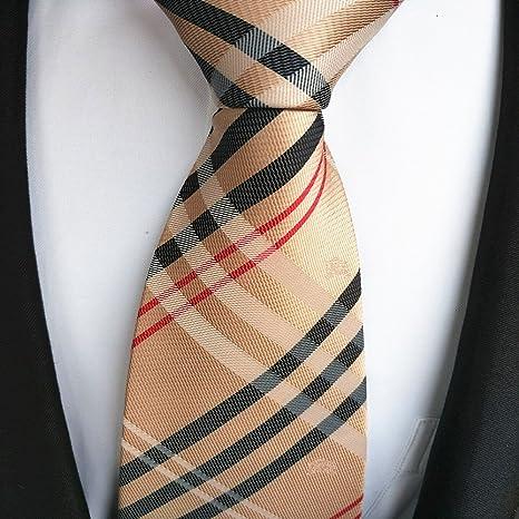 FYios - Corbata de champán, Color Negro y Blanco con Cuello ...