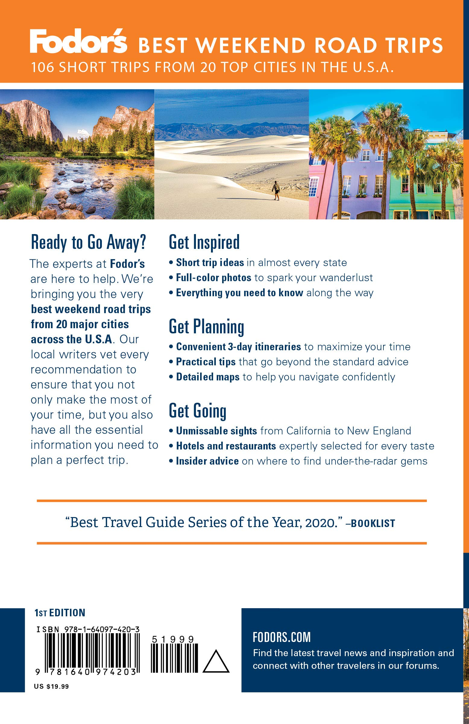 Fodor S Best Weekend Road Trips Full Color Travel Guide Fodor S Travel Guides 9781640974203 Amazon Com Books