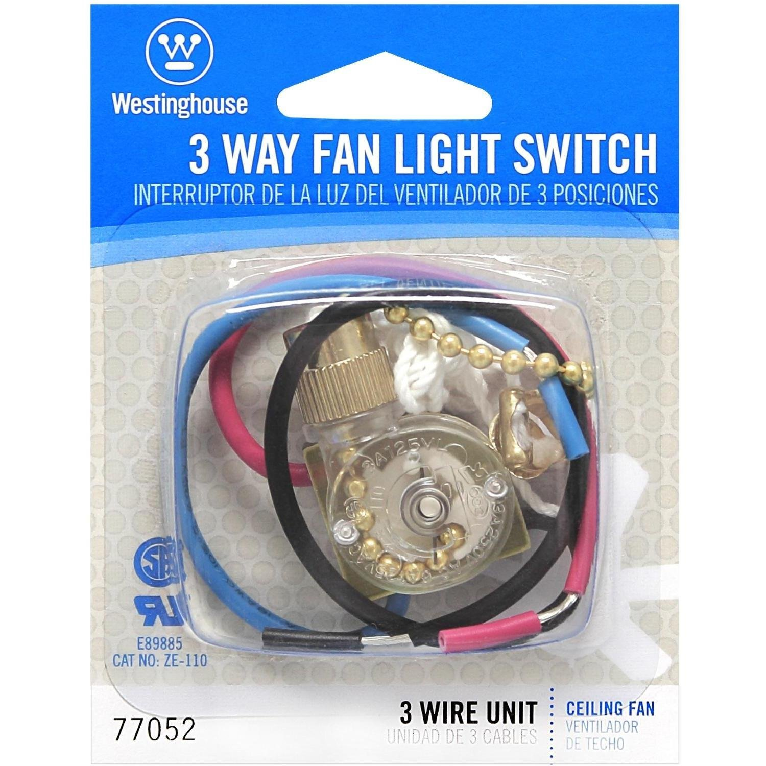 Westinghouse Lighting Corp 3 Way Fan Light Switch Wall Light – Light Pull Switch Wiring Diagram