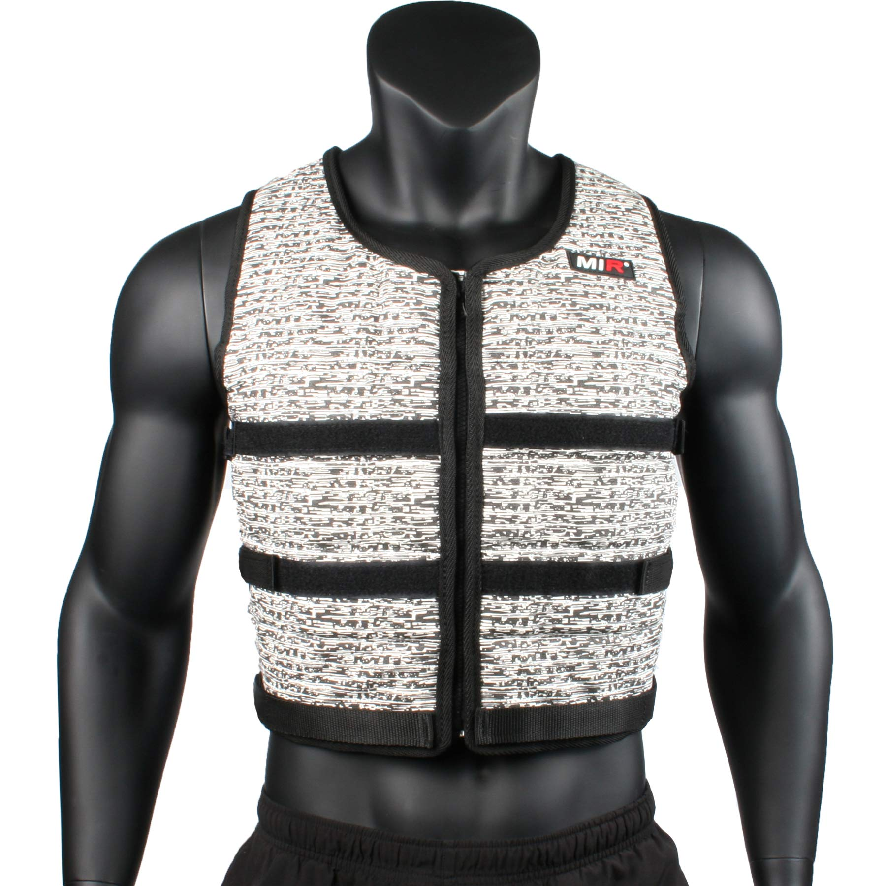 Mir Super Slim AIR Flow Adjustable Weighted Vest Machine Washable. for Men & Women (Black - 16LBS) by Mir (Image #2)