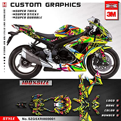 Amazon com: Kungfu Graphics Custom Decal Kit for Suzuki GSXR600