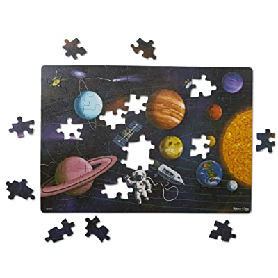 Melissa & Doug Natural Play Cardboard Jigsaw Floor Puzzle: Outer Space (100 Pieces): Toys & Games