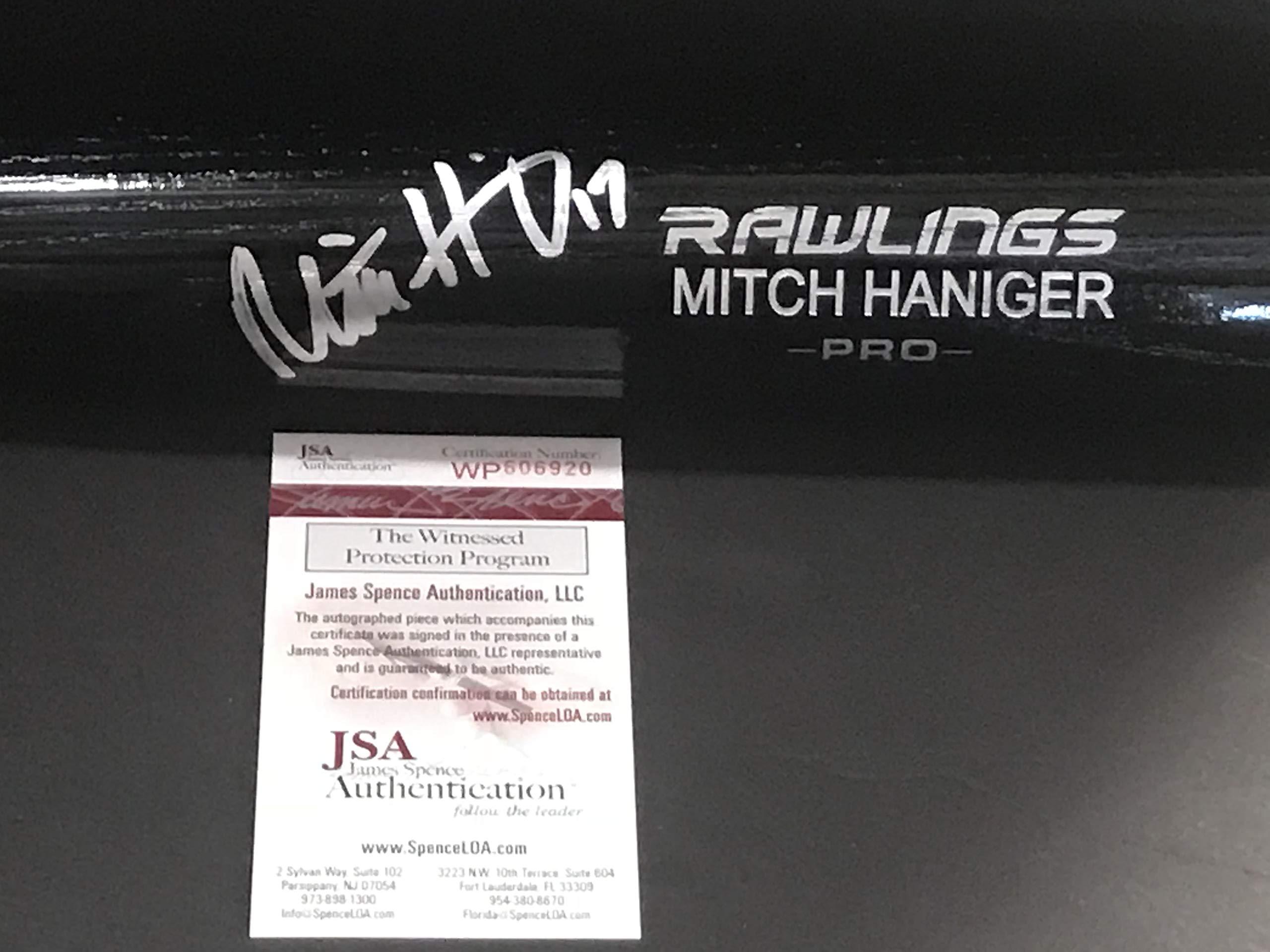 Mitch Haniger Seattle Mariners Autographed Signed Black Baseball Bat JSA WITNESS COA