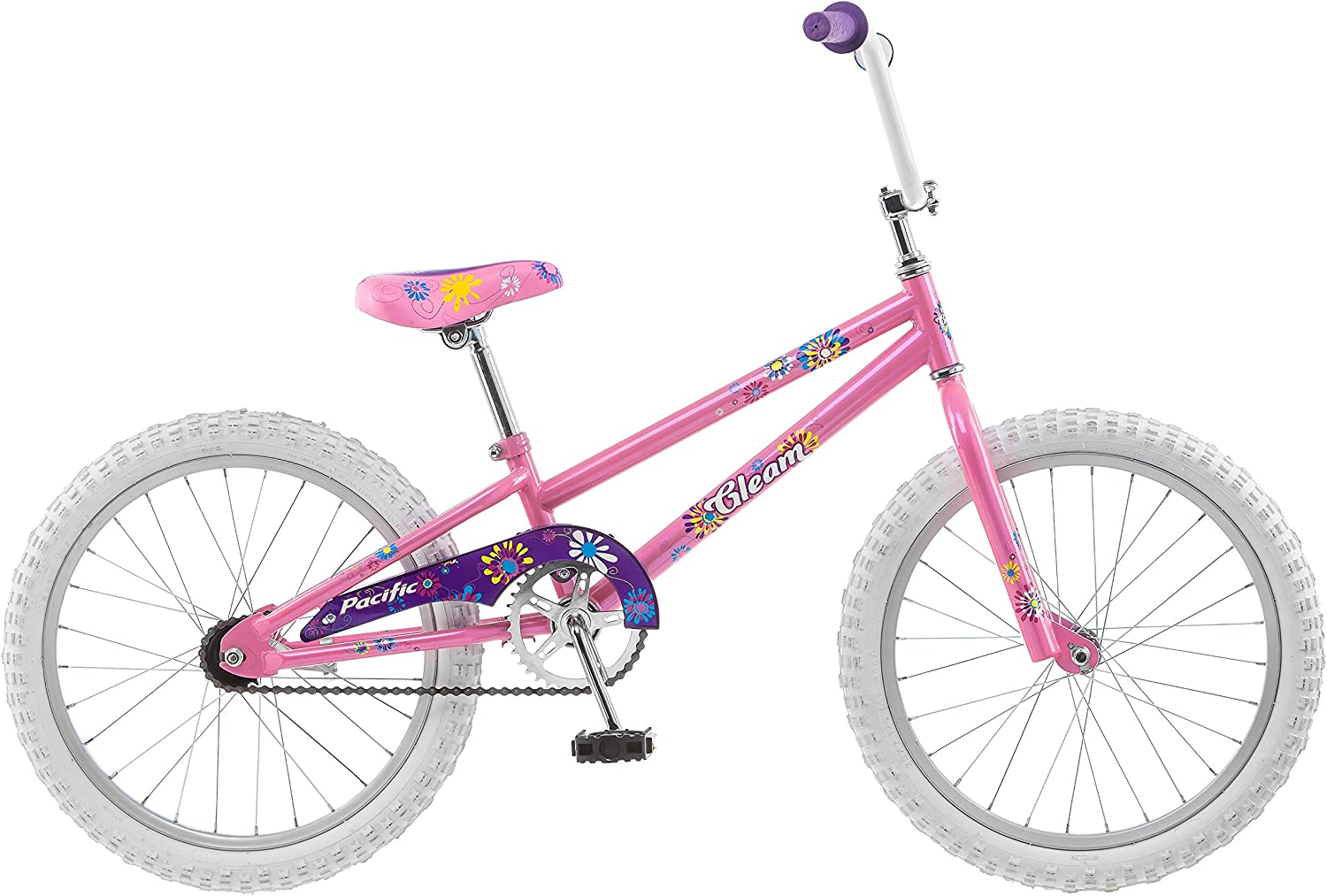 Amazon Com Pacific Gleam Girls Bike 20 Inch Wheels Training Wheels Not Included Pink Sports Outdoors