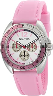 Nautica Womens N09914G Sport Ring Multifunction Pink Box Set Watch