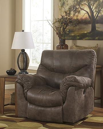 ashley furniture signature design alzena recliner rocker pull tab manual reclining sofa - Ashley Furniture Recliners