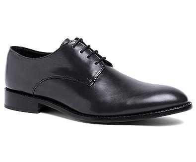 8306ea78a5b6 Anthony Veer Men's Truman Derby Oxford Full Grain Leather Dress Formal  Wedding Shoes Goodyear Welt (