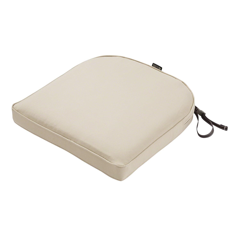 "Classic Accessories Montlake Cont. Seat Cushion Foam & Slip Cover, Antique Beige, 18x18x2"" Thick"