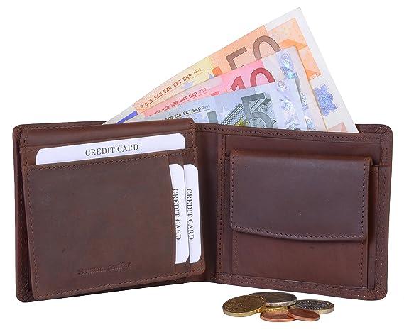 TUSC Orion Cartera para hombre de color marrón vintage / billetera delgada Cartera de cuero genuino para monedero, bolso, clip de dinero, ...