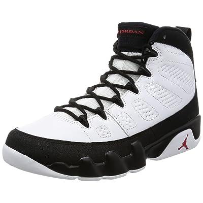 Nike Mens Air Jordan 9 Retro Playoff White/True Red-Black Leather Size 10