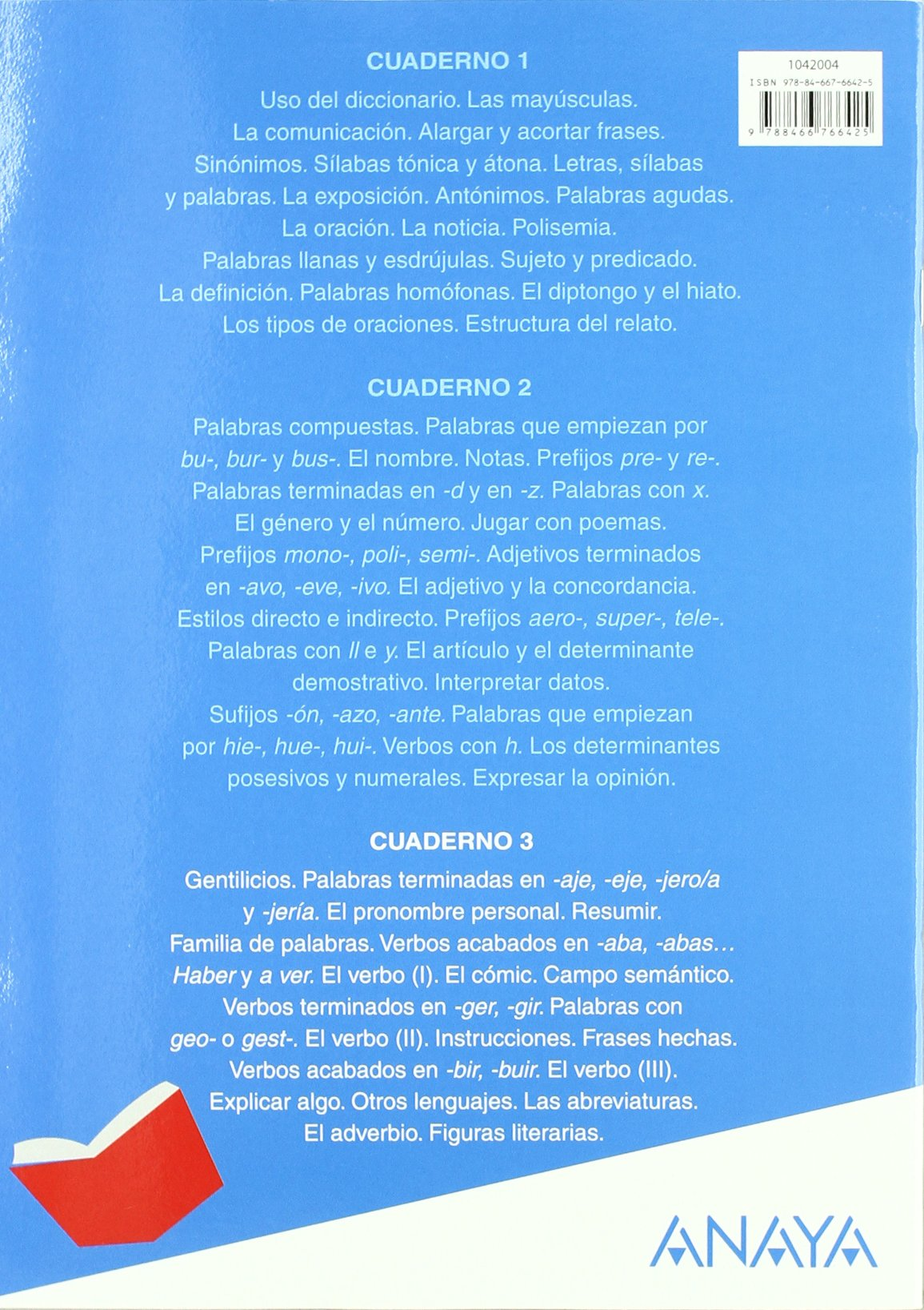 Abre la puerta, lengua, 4 Educación Primaria. Cuaderno 3: María Isabel Fuentes Zaragoza: 9788466766425: Amazon.com: Books