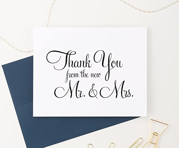 from the new mr and mrs wedding thank you cards wedding thank you notes