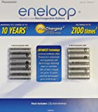 Panasonic BK-4MCA12BCA eneloop AAA 2100 Cycle Ni-MH Pre-Charged Rechargeable Batteries (Pack 12)