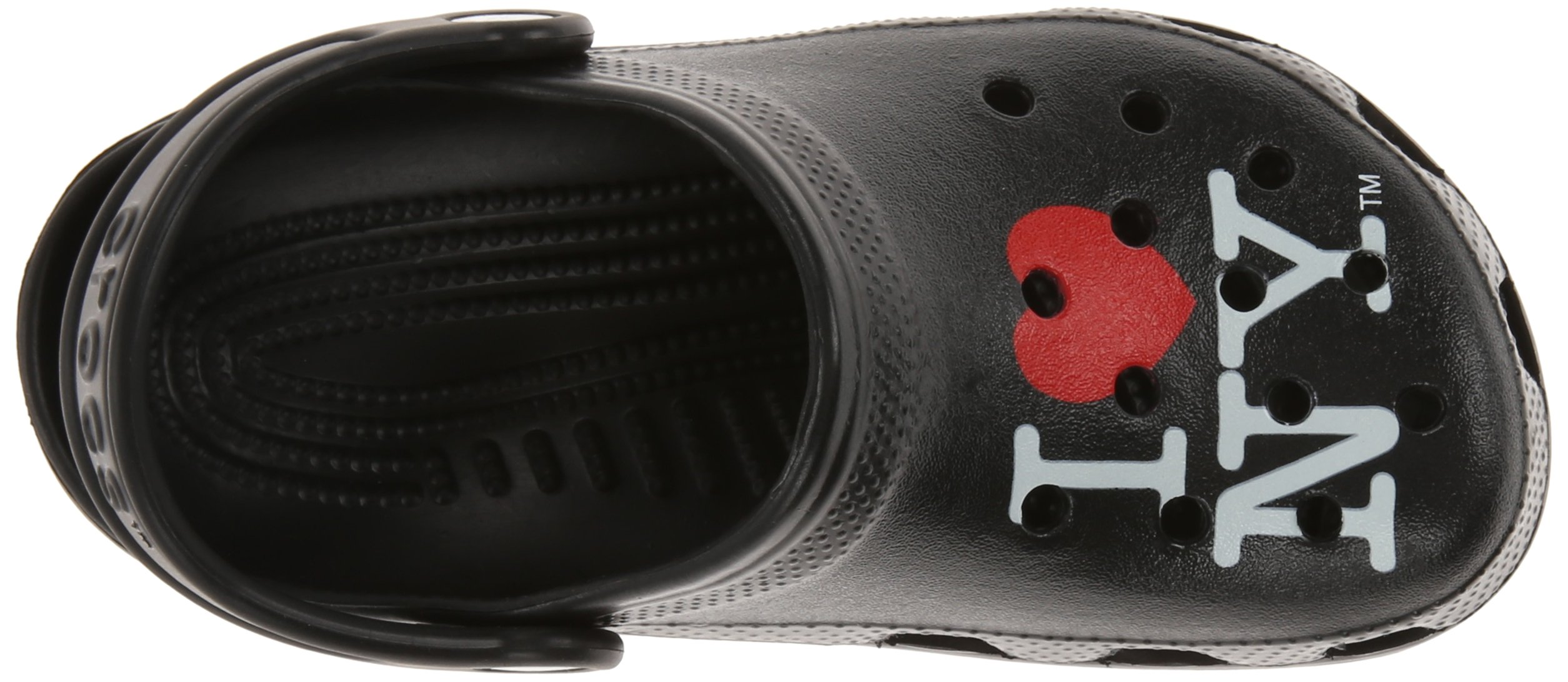 Crocs Kids 15394 I Love NY Classic Clog (Toddler/Little Kid),Black,8 M US Toddler by Crocs (Image #8)