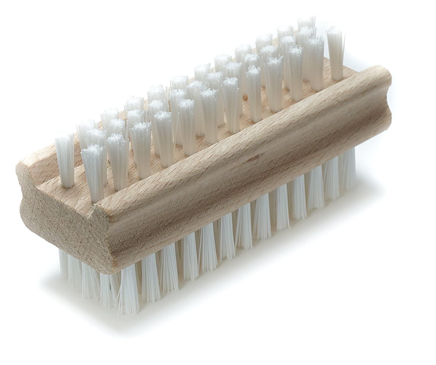Konex Non-Slip Wooden Two-sided Hand and Nail Brush 84521
