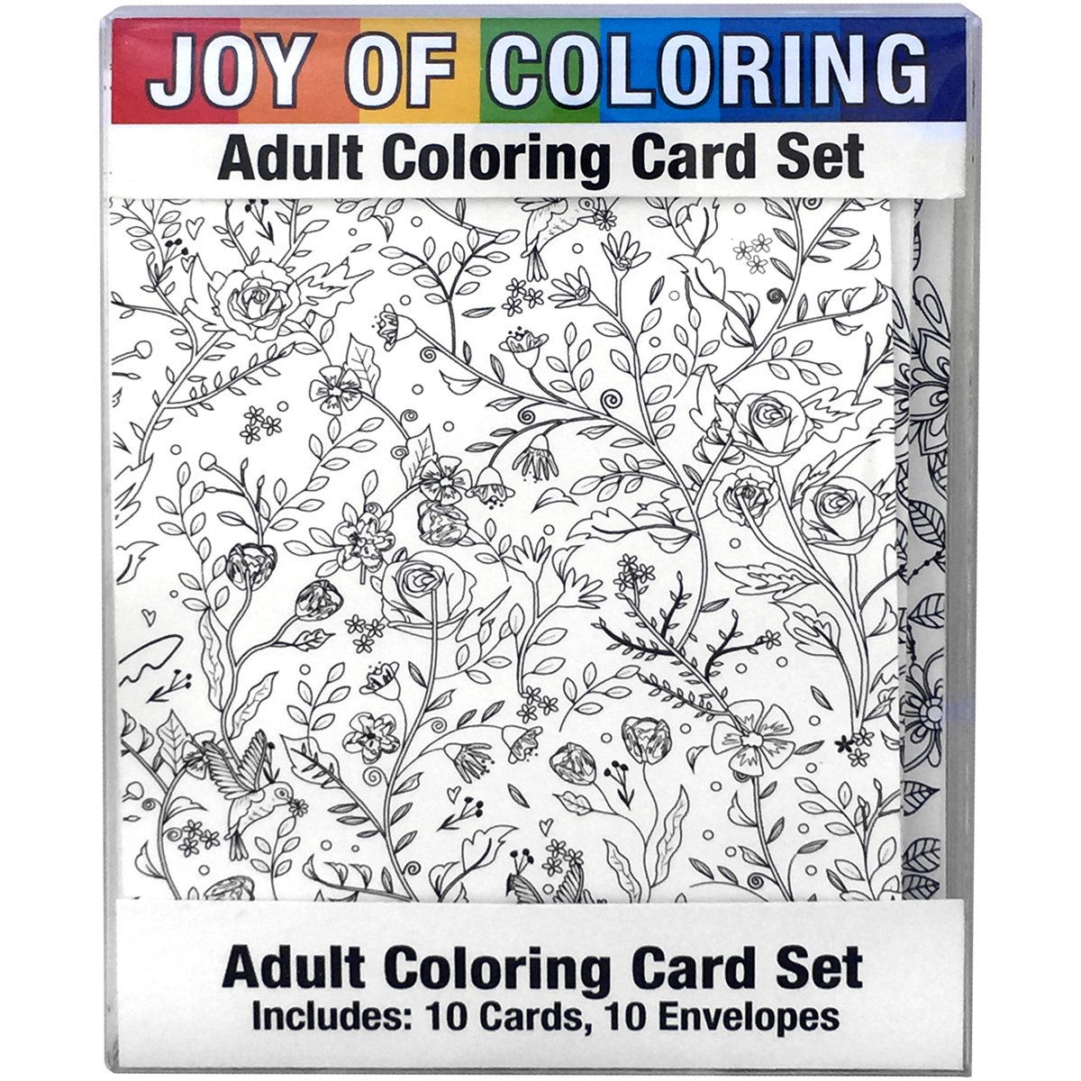 4 x 5.5 4 x 5.5 Zorbitz Inc Zorbitz 2663 Joy Adult Coloring Card Set