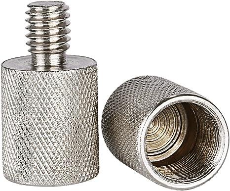 Adaptador de Rosca niceyrig para soporte de micrófono 3//8 pulgadas macho a hembra de 5//8 pulgadas