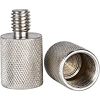 Neewer Nickel Brass Durable Solid 2 Pieces 3/8-inch Male to 5/8-inch Female Screw Thread Adapter for Microphone Mounts…