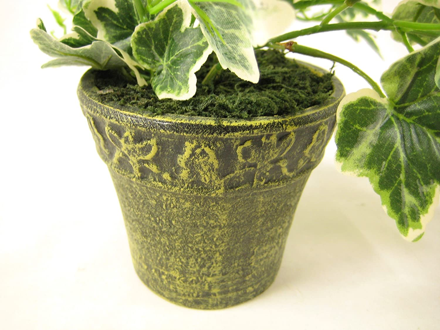 Deco-office Potted Ivy Trailing Artificial Plant Green H22cm