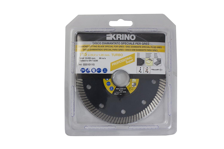 Krino 03515115 Disco de corte especial para porcelanato, cerámica y azulejos en Género, acero: Amazon.es: Bricolaje y herramientas