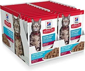 Hill's Science Diet Wet Cat Food Pouches, Adult, 2.8 oz Pouch, 24 Pack