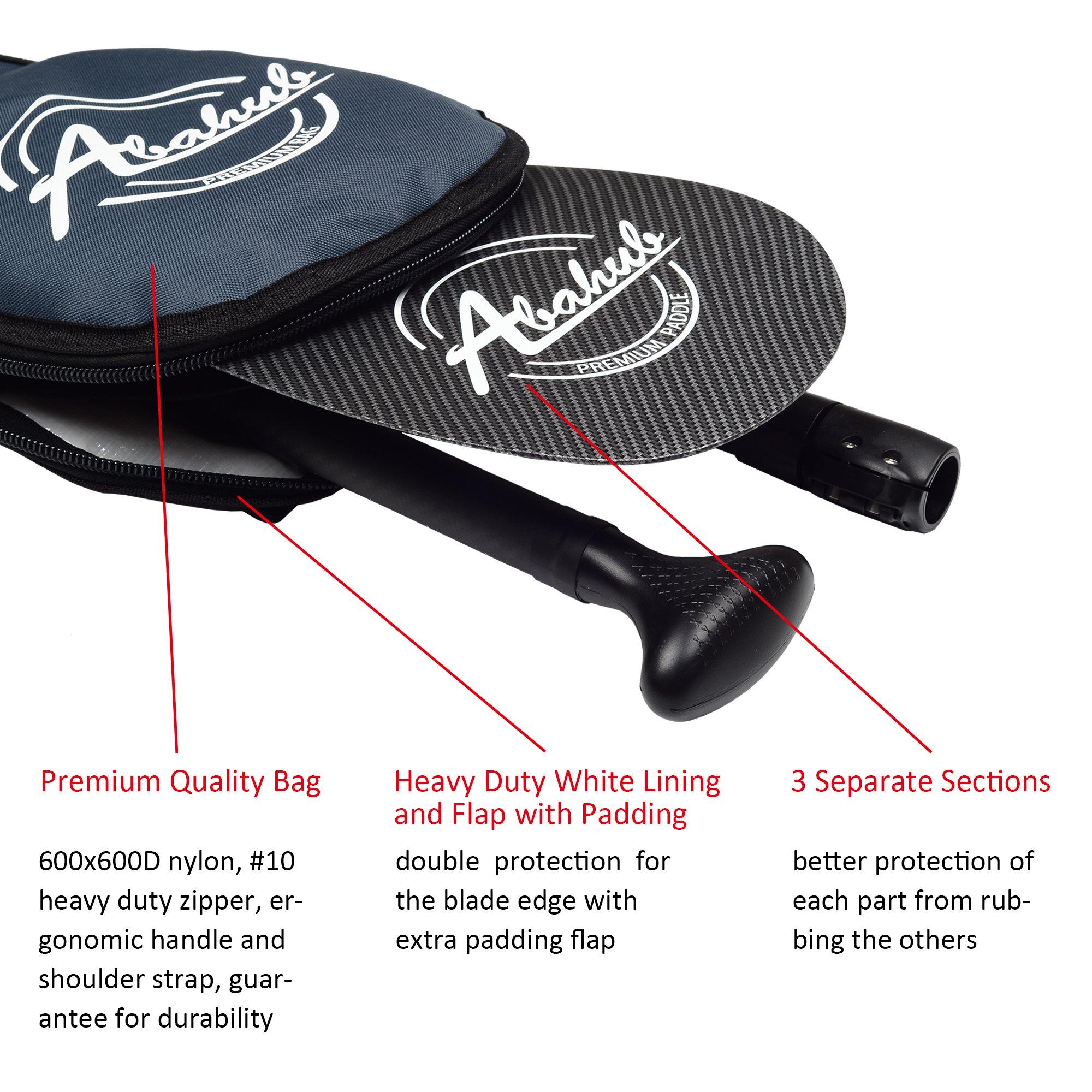 ABAHUB 3-Piece Adjustable Carbon Fiber SUP Paddle Carbon Shaft Carbon Print Plastic Blade + Bag by ABAHUB (Image #7)