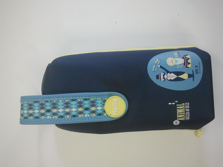 Milan - Portatodo handly multipencilcase con contenido circus azul: Amazon.es: Oficina y papelería