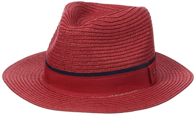 Amazon.com  Original Penguin Men s Klein Wide-Brim Straw Fedora Hat ... 0989d11b4eb