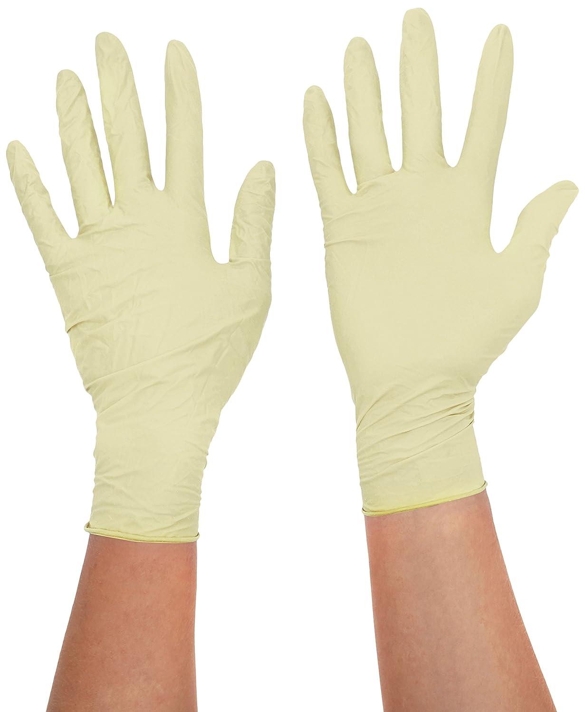 tama/ño mediano paquete de 200 color blanco Quest 2.2 92937 guantes de examen de nitrilo sin polvo