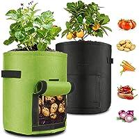 Bolsas Para Plantar Patatas 2Pcs, Bolsas De Cultivo de Papa Patatas 7gallon,Bolsas de Tela Para Plantas,Bolsa de Cultivo…