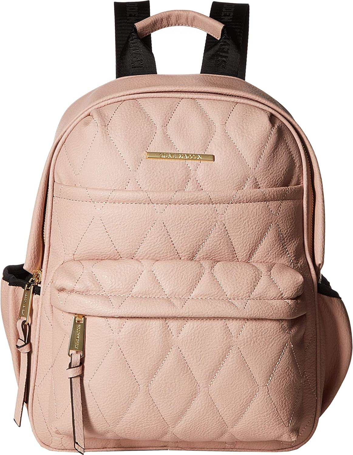 b2d0fb6e33 Amazon.com: Steve Madden Women's Bforce Quilted Backpack Blush One Size:  Clothing
