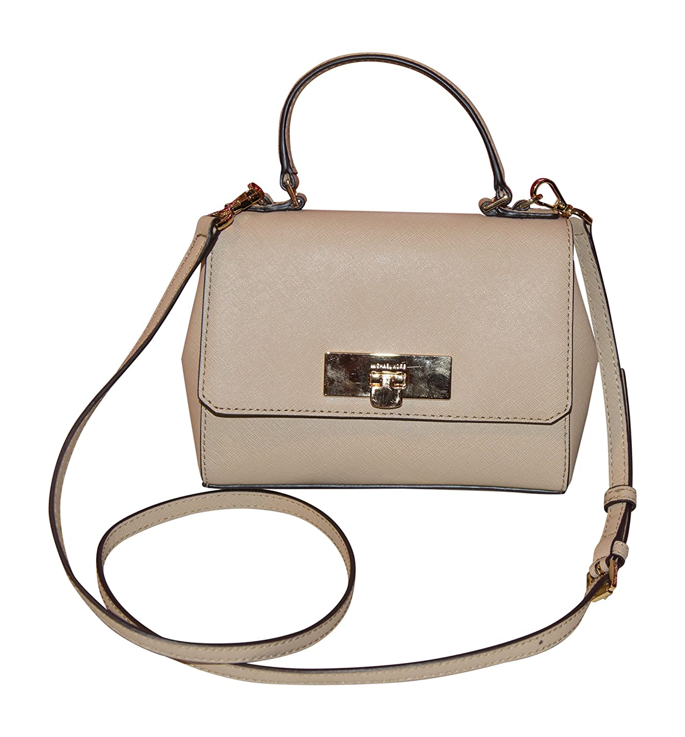 9440a5b29bd5 Michael Kors Callie X-Small Leather Crossbody Handbag, Bisque: Handbags:  Amazon.com