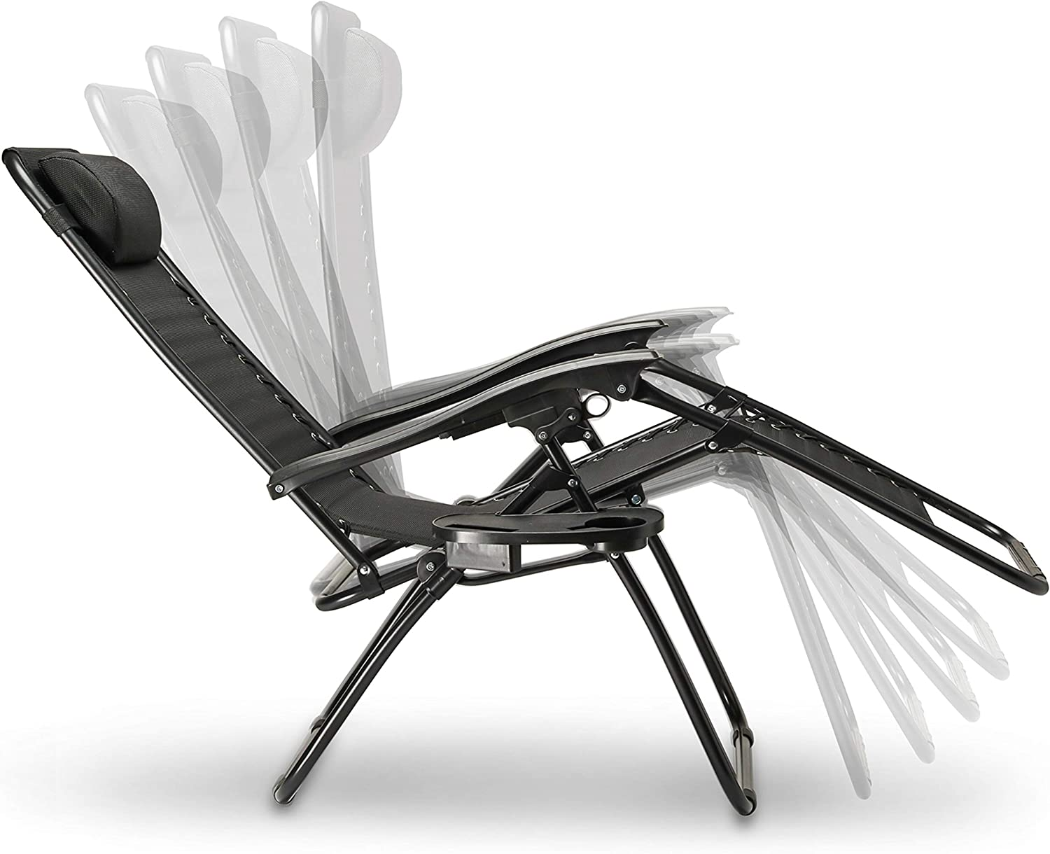 Zero gravity chair reclining