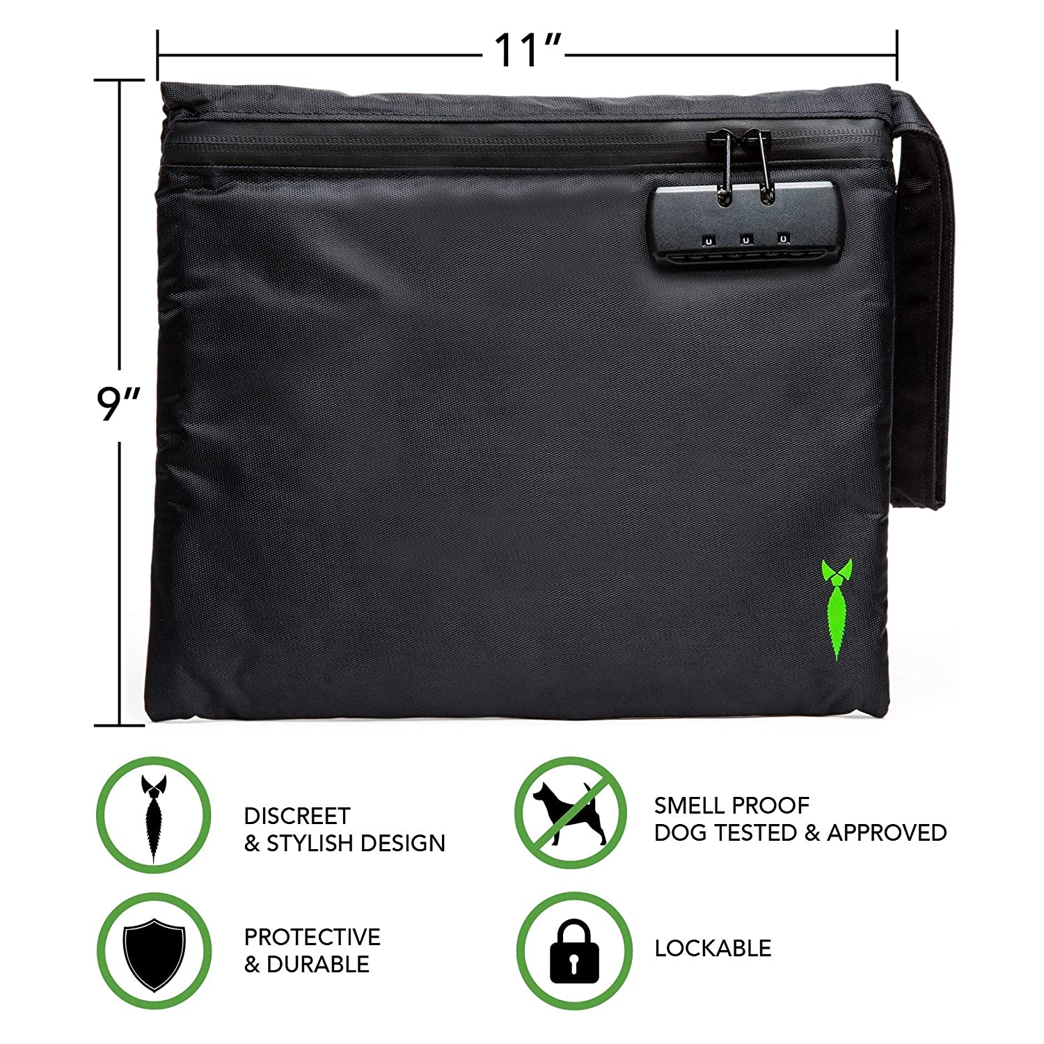 e1d8b60da086 Discreet Smell Proof Bag 2.0 with Combo Lock - Odor Locking Storage  Container