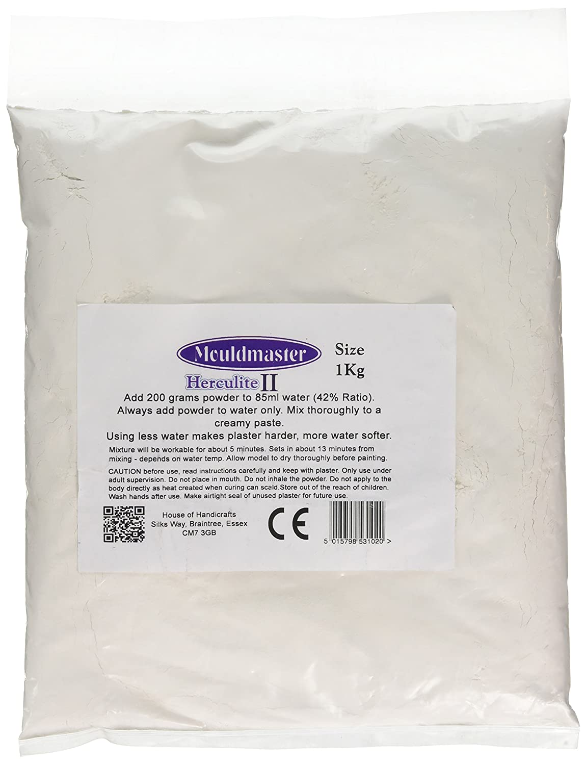 House of Handicrafts 25 x 15 x 3 cm 1 kg Number 2 Herculite Bag, White Mould Master 53102