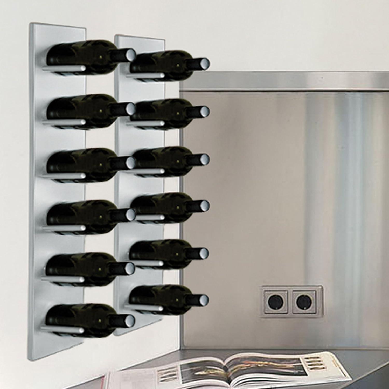 37e3851fc15f1 Casier à bouteilles / Étagère à vin murale DALLAS, en métal, pour 6  bouteilles - H 70 x L 12 x P 19 cm: Amazon.fr: Bricolage