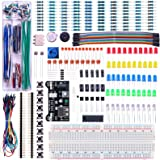 ELEGOO Upgraded Electronics Fun Kit w/Power Supply Module, Jumper Wire, Precision Potentiometer, 830 tie-Points Breadboard fo