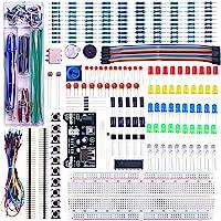 ELEGOO Upgraded Electronics Fun Kit w/Power Supply Module, Jumper Wire, Precision Potentiometer, 830 tie-Points…