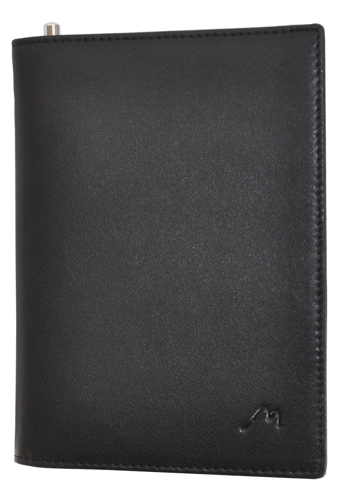 Field Notes/Moleskine Pocket Notebook Cover by Metier Life | Canvas with Vegan Leather | Fits Journals 3.5'' X 5.5'' | With Included Metier Life Notebook and Metier Pen (Vegan Leather Black) by Metier Life (Image #4)