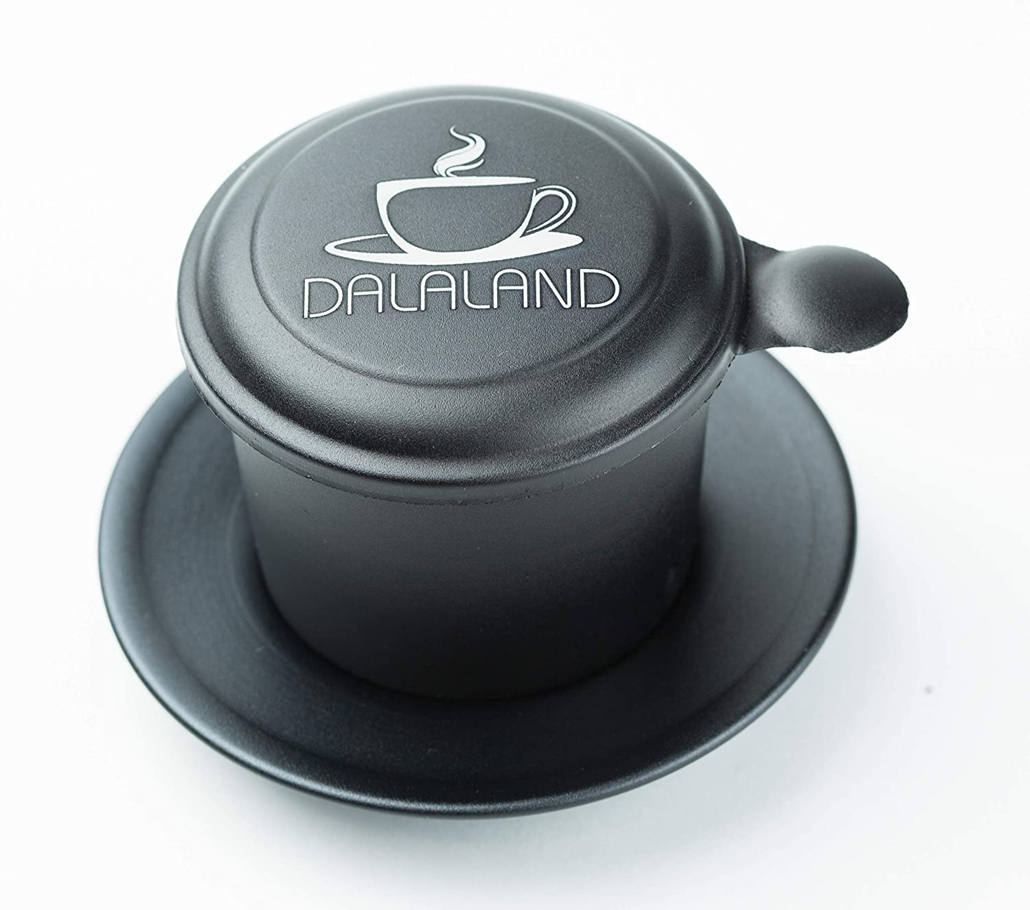 Vietnamese Aluminum Coffee Maker by DALALAND | Filter Press Down Insert | Dripper Mechanism - Made in Vietnam – Full Set Medium Size 8oz