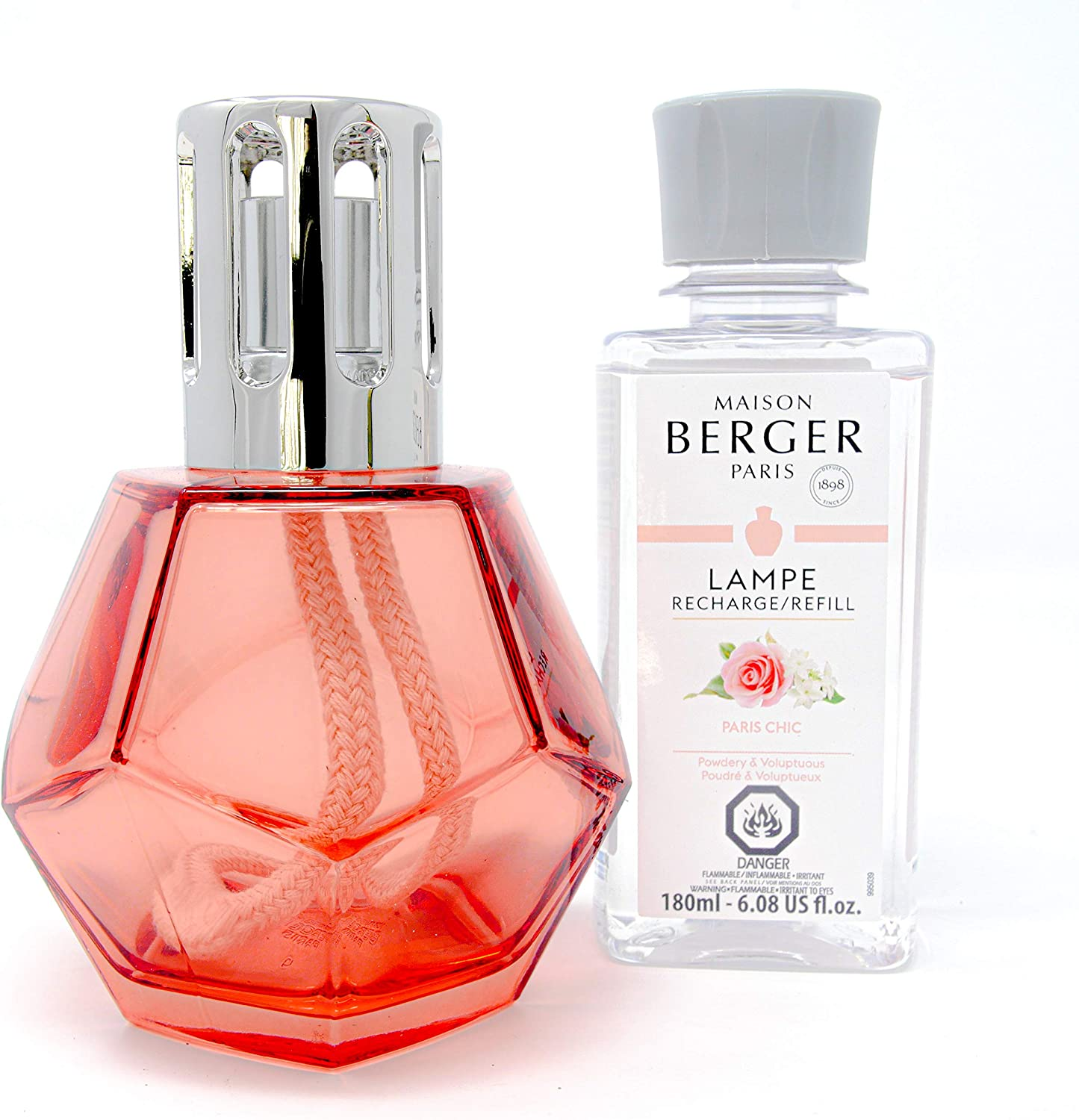 MAISON BERGER - Lampe Berger Gift Set Geometry - Home Fragrance Diffuser -  Perfuming - 9x9x9 inches - Made in France - Includes Fragrance 190