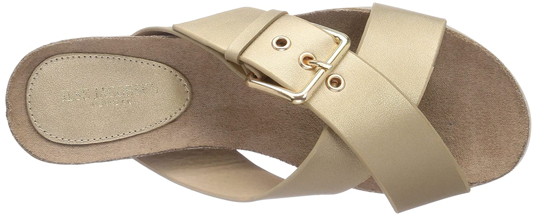 ILSE JACOBSEN Women's Beet 23 Wedge Sandal B00O1MKR2E 39 M EU / 9 B(M) US|Gold