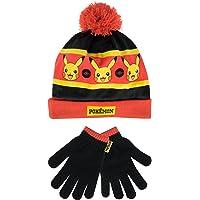 Pokèmon - Conjunto de gorro y guantes para niño