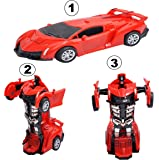 HRK Deformation Converting Car to Transformer Robot - Robot to Car Automatically for Boys 2-5 Years (No Battery Required)