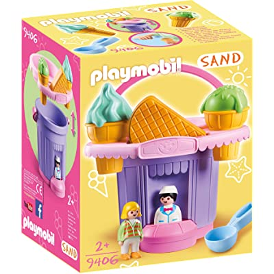 PLAYMOBIL Ice Cream Shop Sand Bucket: Toys & Games